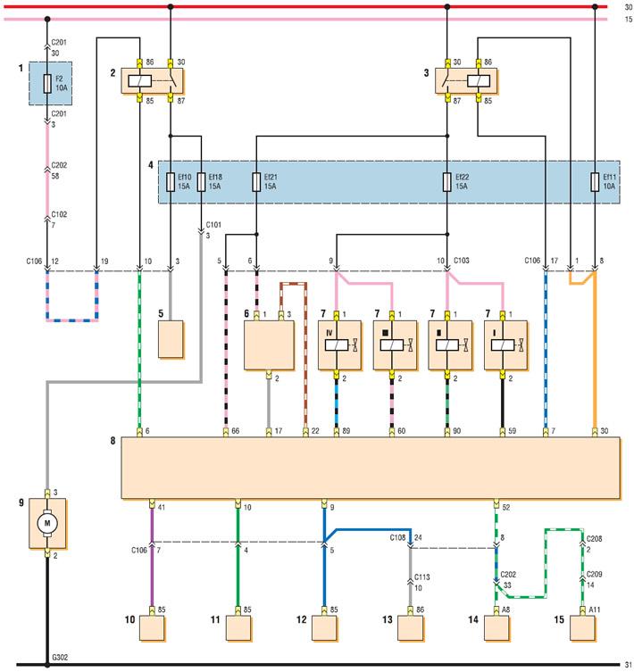 Схема электронной системы управления двигателем фото 945