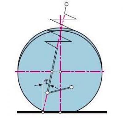 0654 - Устройство передней стойки ланос