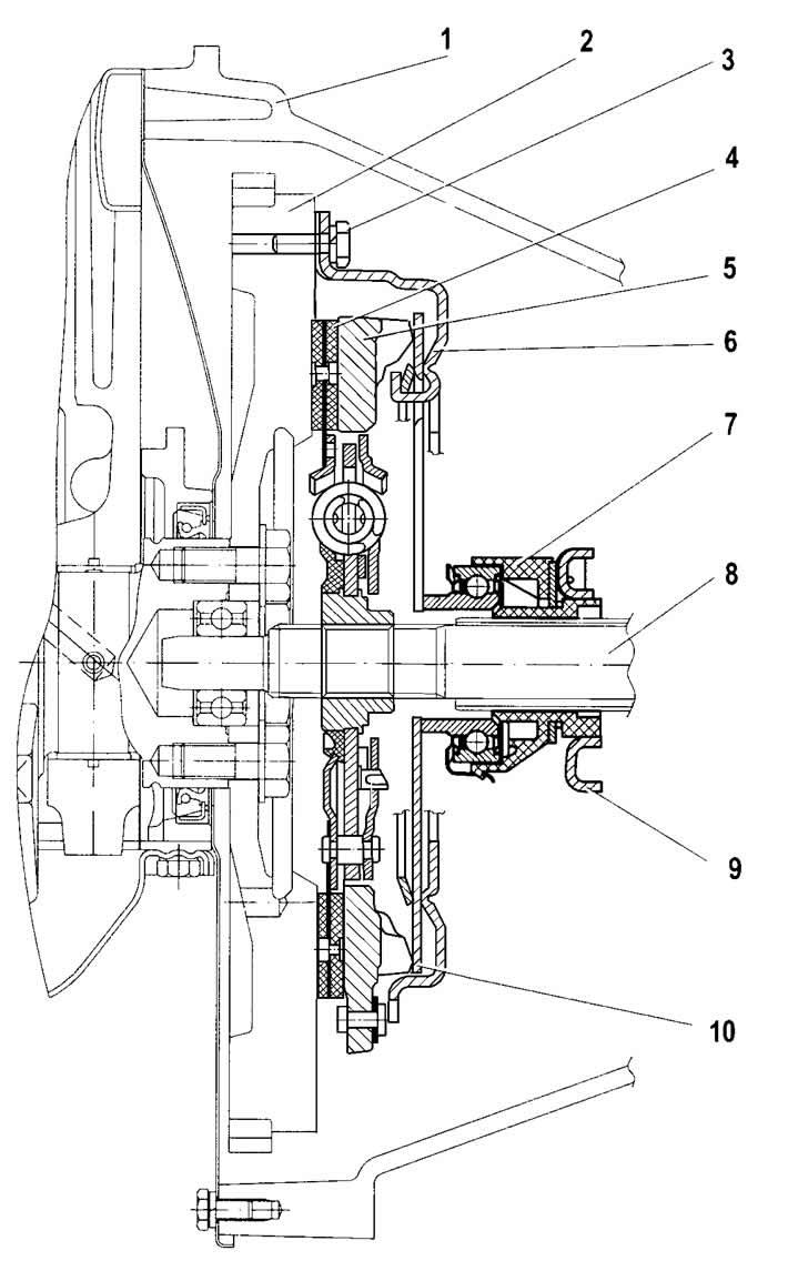 0180 - Схема сцепления шевроле нива